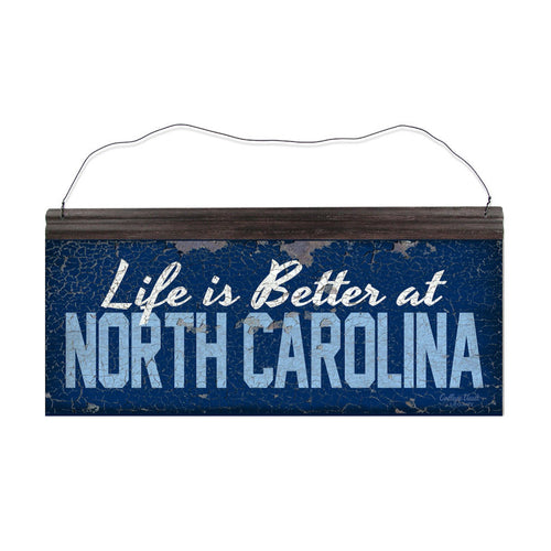 University of North Carolina Carolina 'Life is Better' Tin Sign