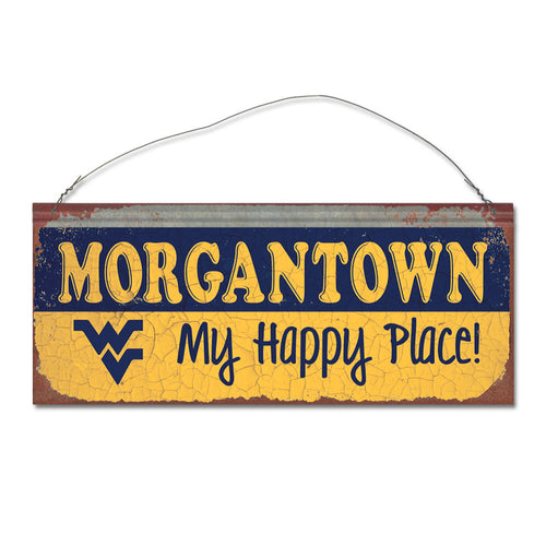 West Virginia University Happy Place Sign