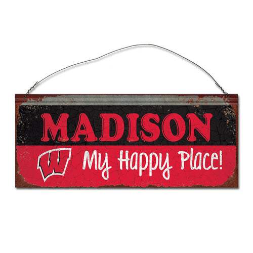 University of Wisconsin Happy Place Sign