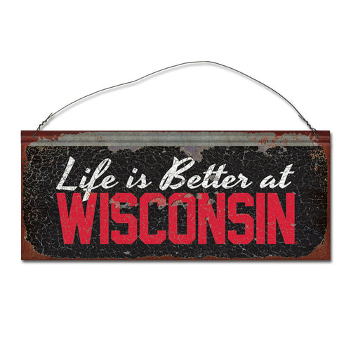 University of Wisconsin 'Life is Better' Tin Sign