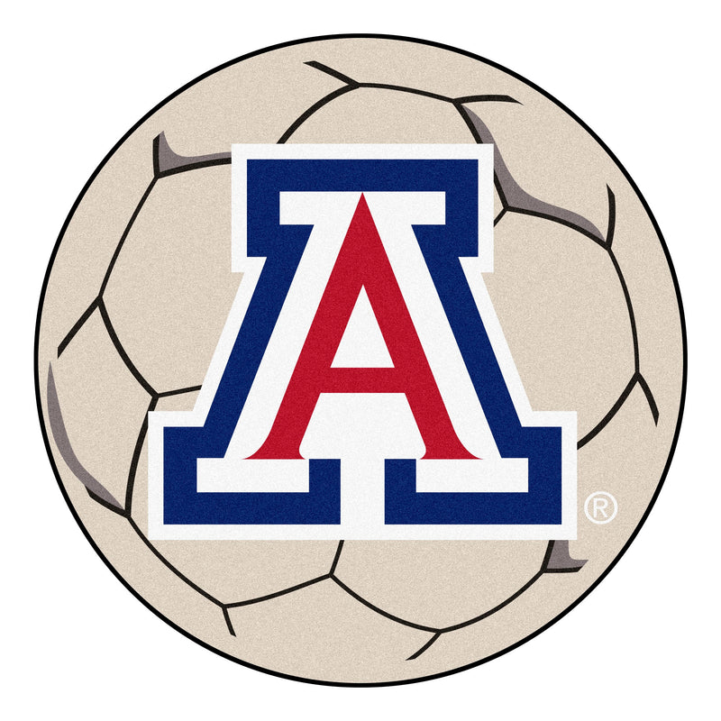 University of Arizona Soccer Ball Rug