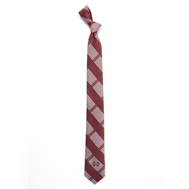 Mississippi State University Skinny Plaid Tie