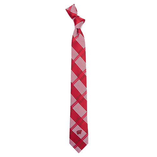 University of Wisconsin Skinny Plaid Tie
