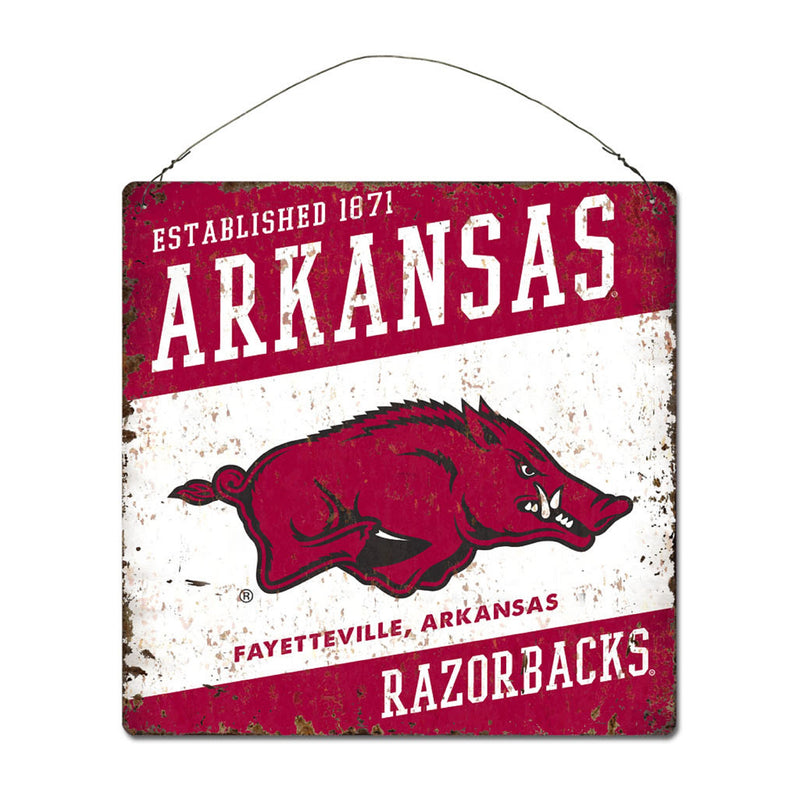 University of Arkansas Large Tin 'Established' Sign