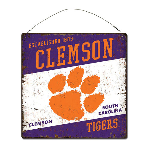 Clemson University Large Tin 'Established' Sign