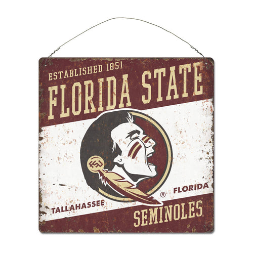 Florida State University Large Tin 'Established' Sign