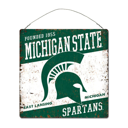 Michigan State University Large Tin 'Established' Sign