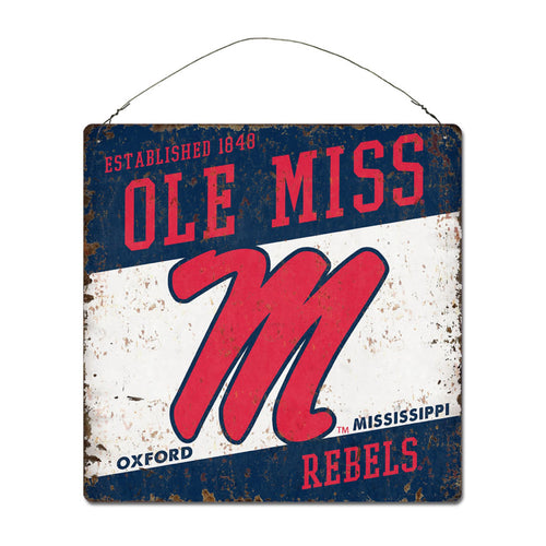 University of Mississippi Large Tin 'Established' Sign