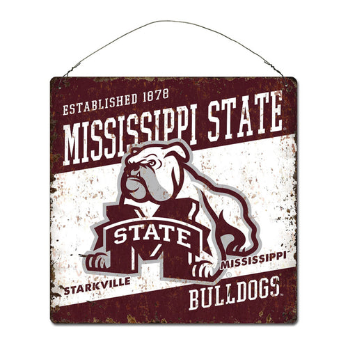 Mississippi State University Large Tin 'Established' Sign
