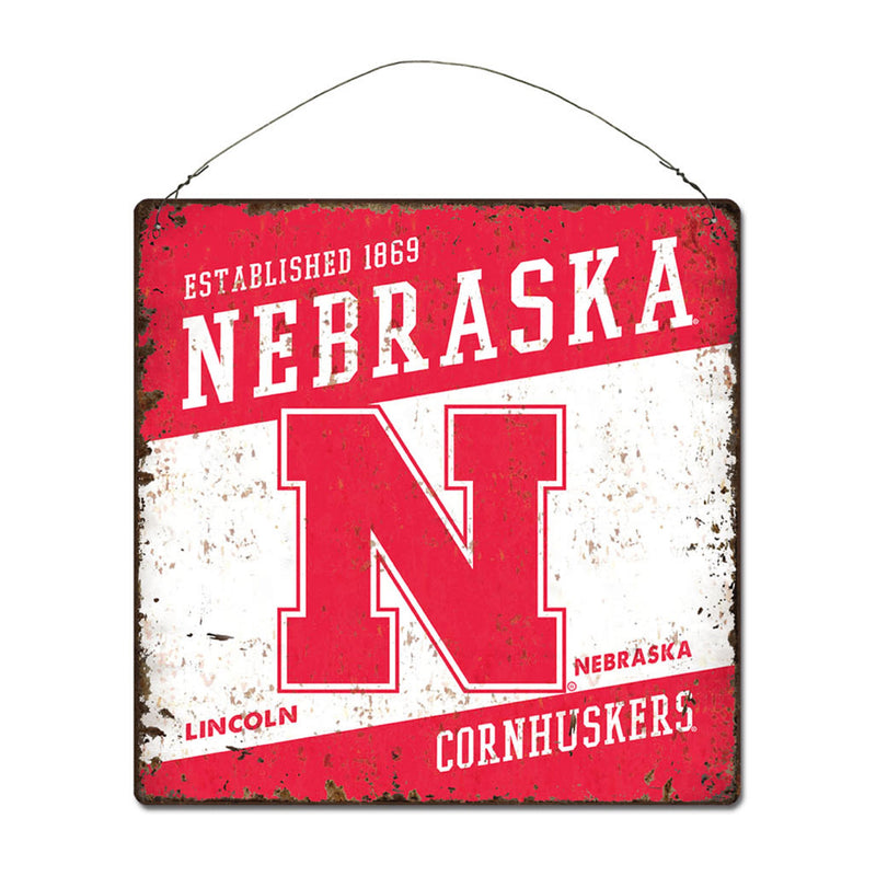 University of Nebraska Large Tin 'Established' Sign
