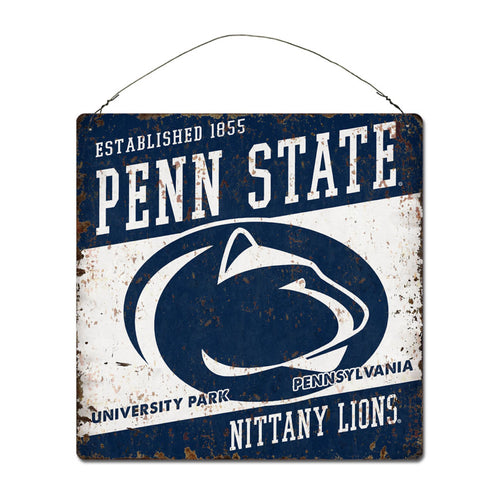 Penn State University Large Tin 'Established' Sign
