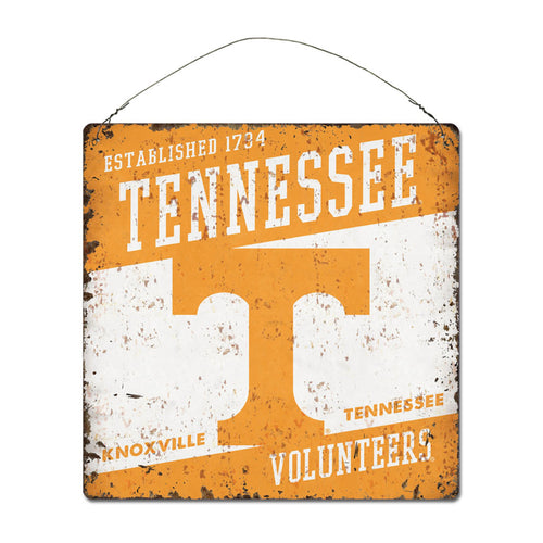 University of Tennessee Large Tin 'Established' Sign