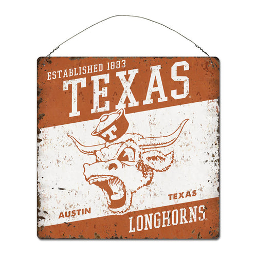 University of Texas Large Tin 'Established' Sign