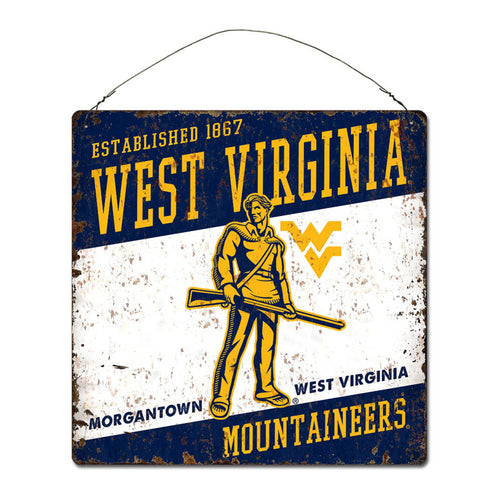 West Virginia University Large Tin 'Established' Sign