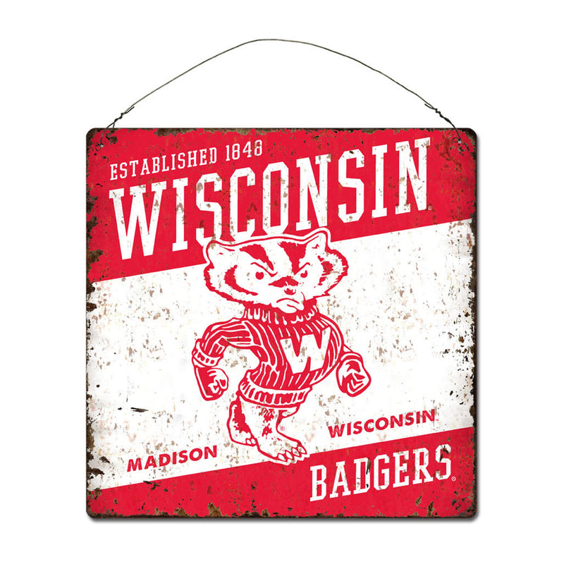 University of Wisconsin Large Tin 'Established' Sign