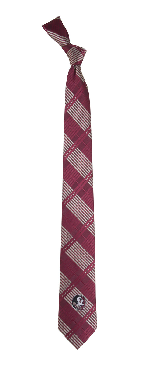 Florida State University Skinny Plaid Tie