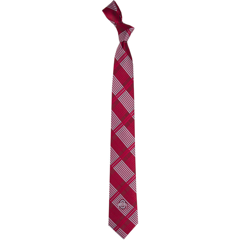 Ohio State University Skinny Plaid Tie