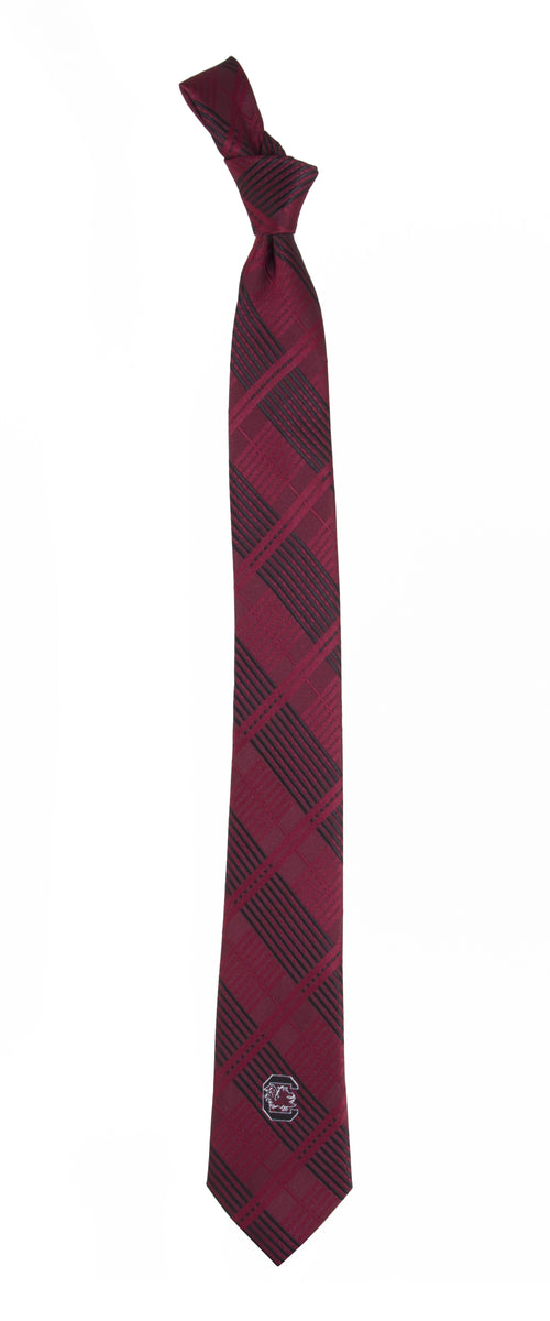 University of South Carolina Skinny Plaid Tie