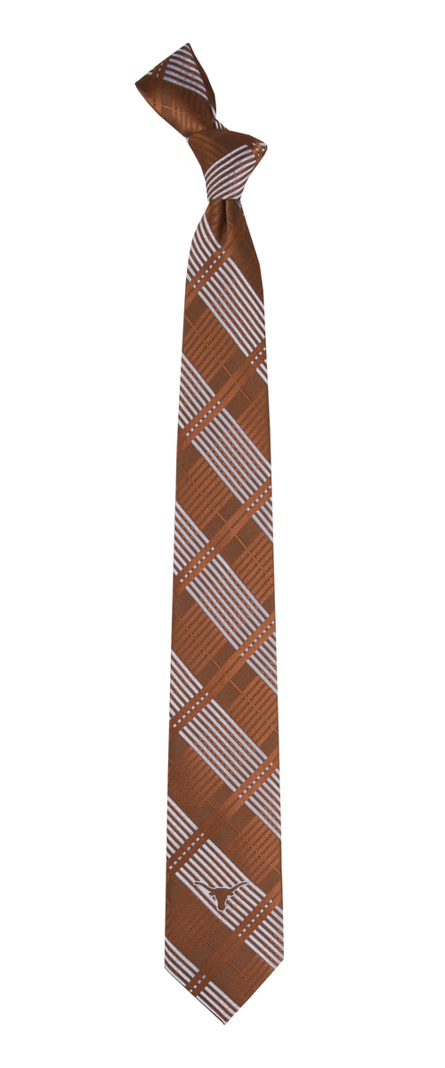 University of Texas Skinny Plaid Tie