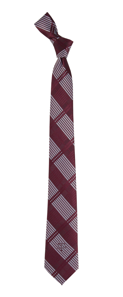 Texas A&M University Skinny Plaid Tie