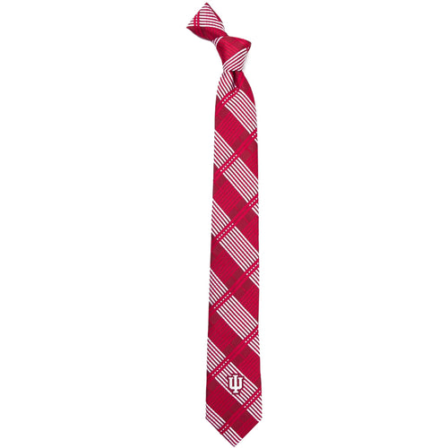 Indiana University Skinny Plaid Tie