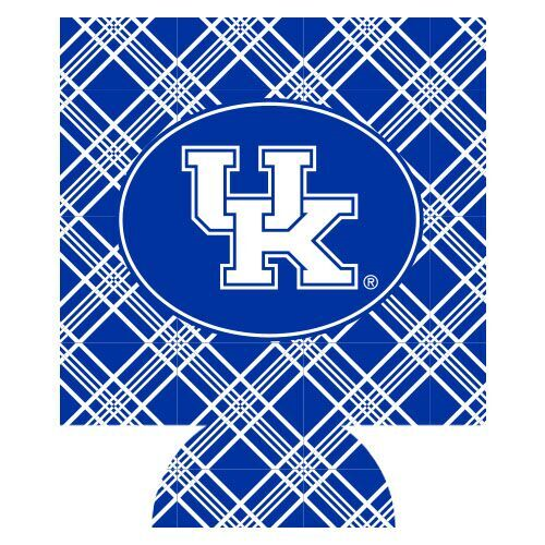 University of Kentucky Plaid Can Hugger