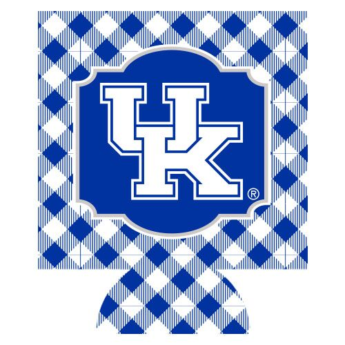University of Kentucky Gingham Can Hugger