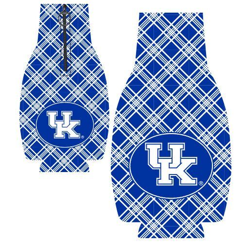 University of Kentucky Plaid Zipper Bottle Huggie