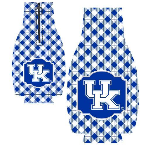University of Kentucky Gingham Zipper Bottle Huggie