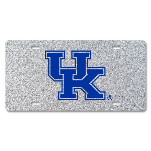 University of Kentucky Glitter License Plate