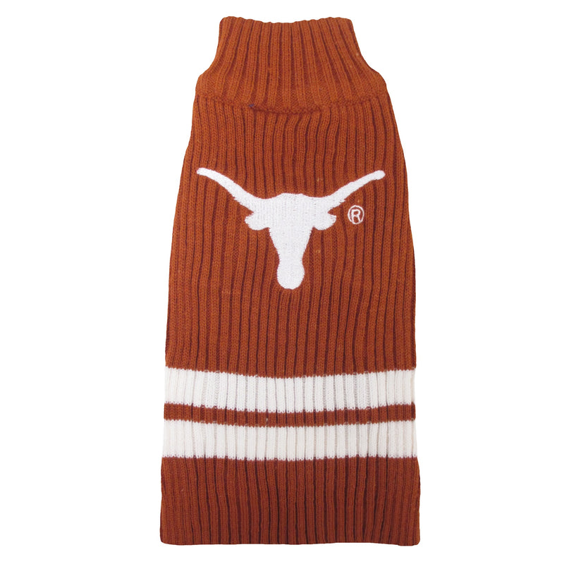 University of Texas Knitted Turtleneck Pet Sweater