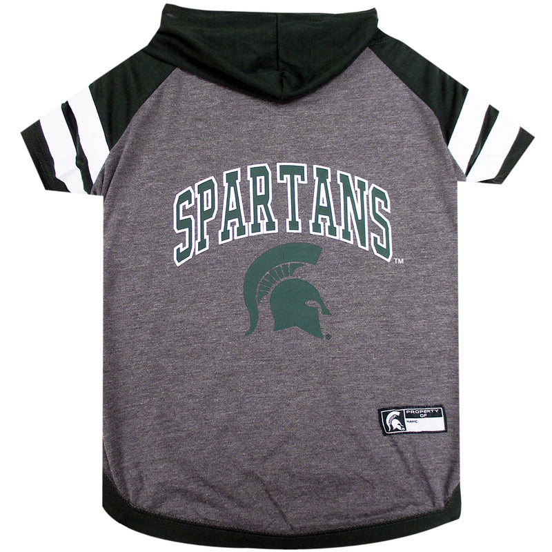 Michigan State University Doggy Hooded Tee-Shirt