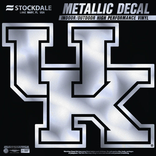 University of Kentucky Metallic Vinyl Car Decal