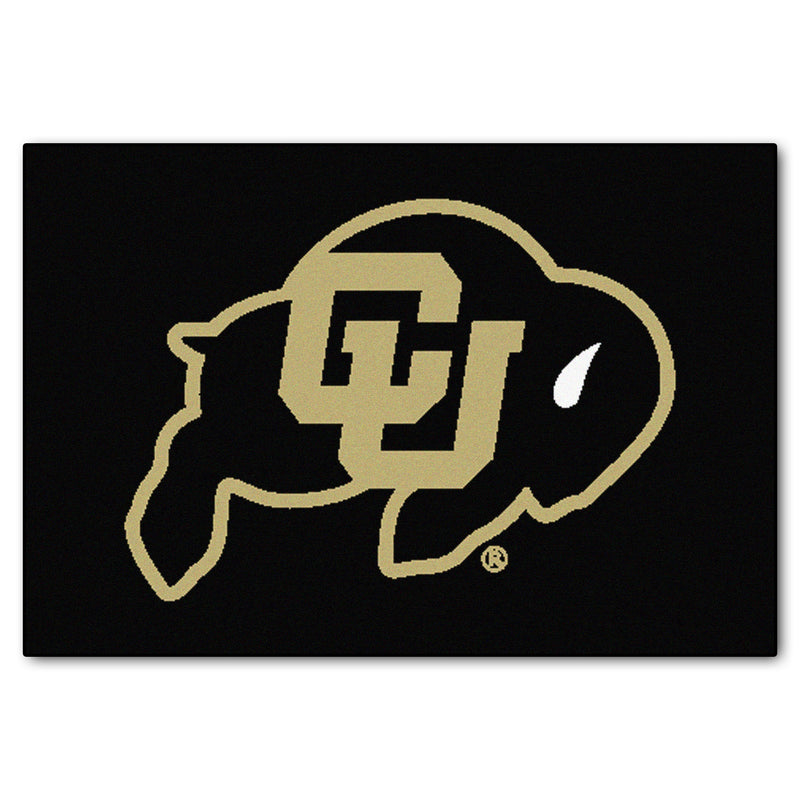 University of Colorado Logo Area Rug