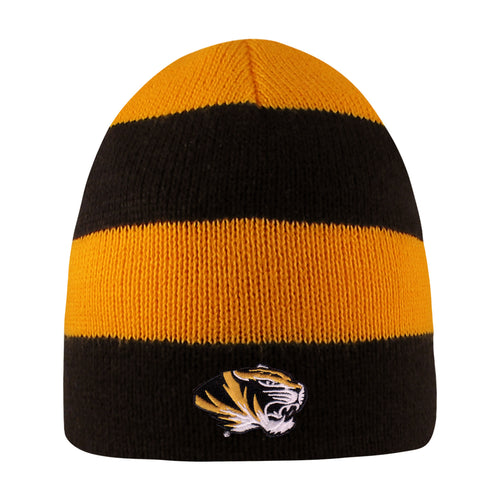 University of Missouri Tigers Rugby Striped Knit Beanie