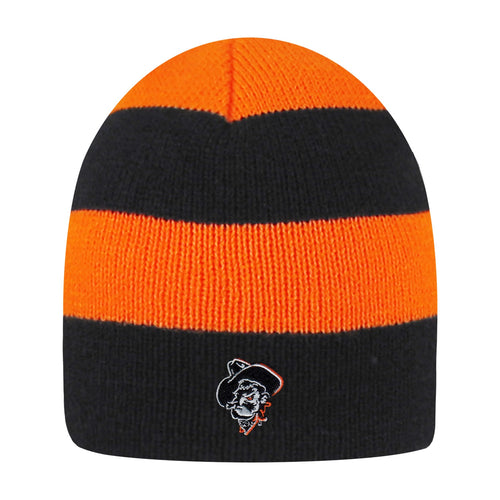 Oklahoma State University Rugby Striped Knit Beanie
