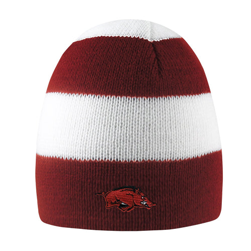 University of Arkansas Rugby Striped Knit Beanie