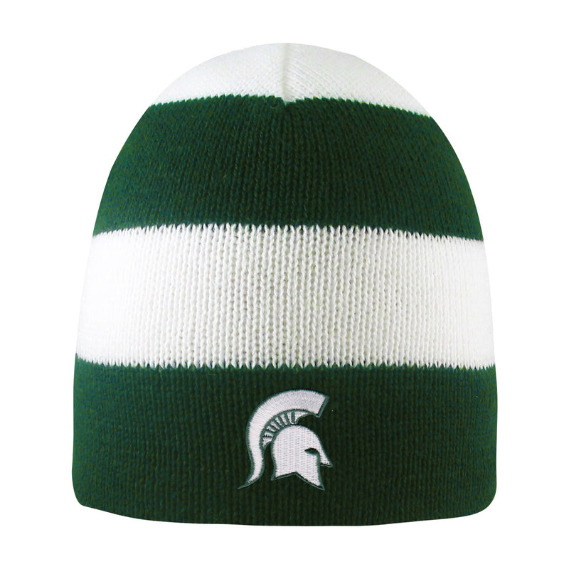Michigan State University Rugby Striped Knit Beanie