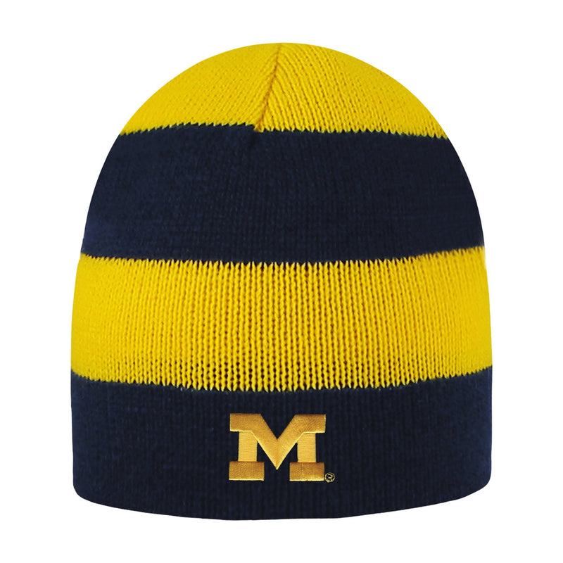 University of Michigan Rugby Striped Knit Beanie