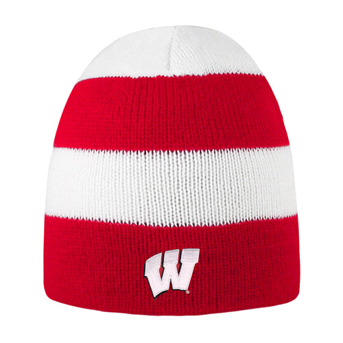 University of Wisconsin Badgers Rugby Striped Knit Beanie