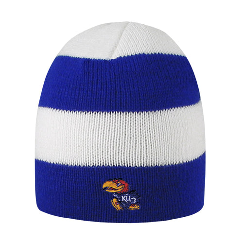 University of Kansas Rugby Striped Knit Beanie