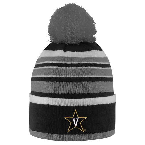 Vanderbilt University Bradshaw Striped Pom Beanie