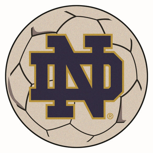 University of Notre Dame Soccer Ball Rug