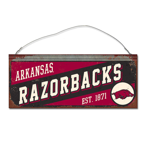 University of Arkansas Small Slant Sign