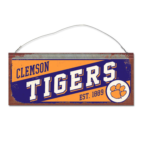 Clemson University Small Slant Sign