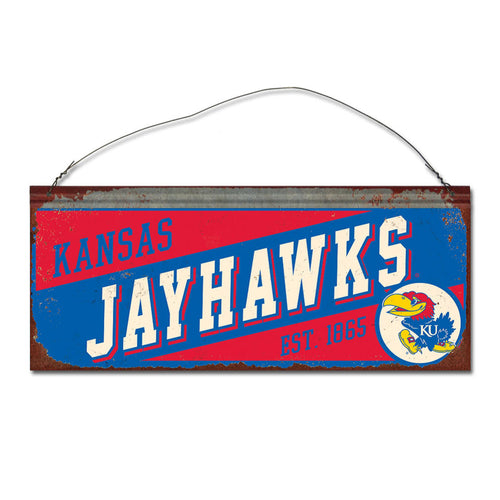 University of Kansas Small Slant Sign