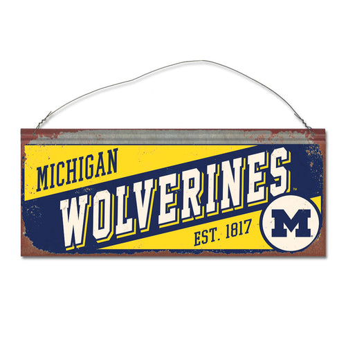 University of Michigan Small Slant Sign
