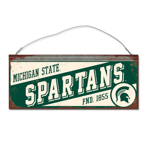 Michigan State University Small Slant Sign
