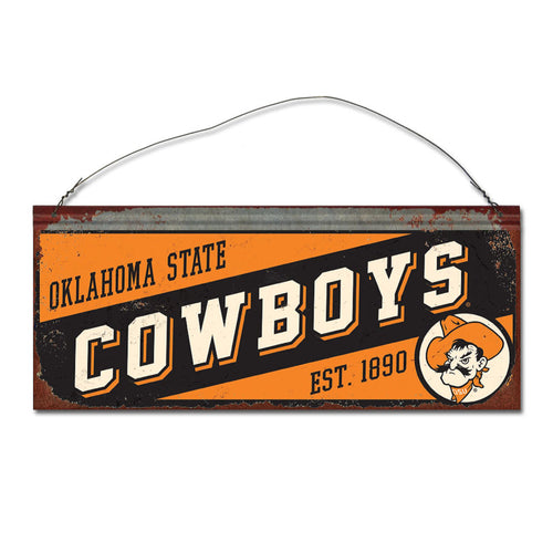 Oklahoma State University Small Slant Sign