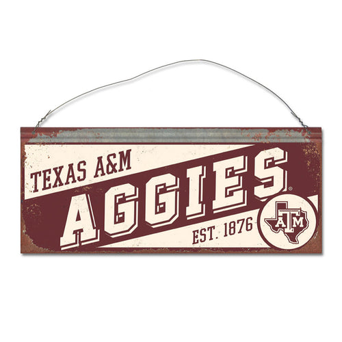Texas A&M University Small Slant Sign
